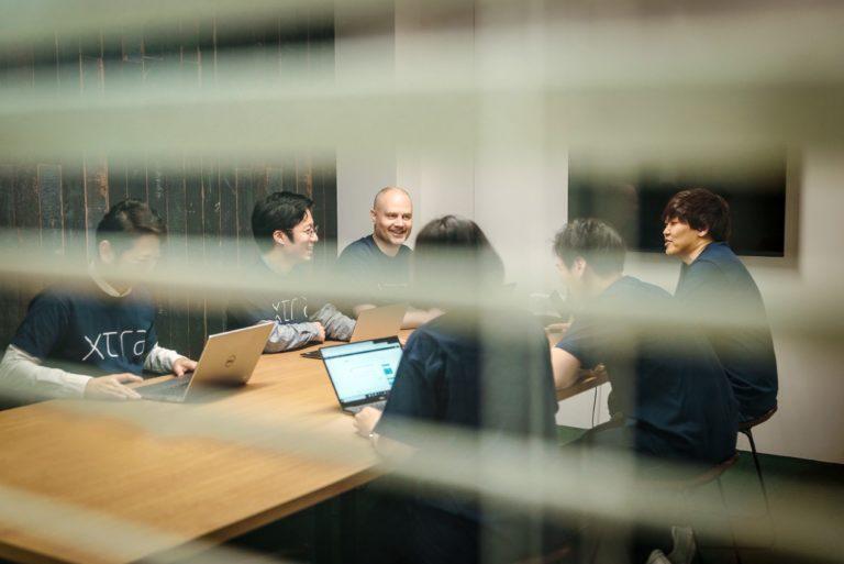 Meeting behind blinds